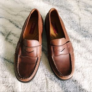 Bass Flex Brown Leather Penny Loafers